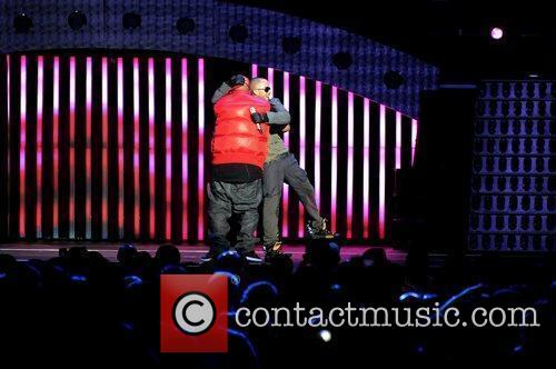 Wisin y Yandel performing on their 'La Revolucion...