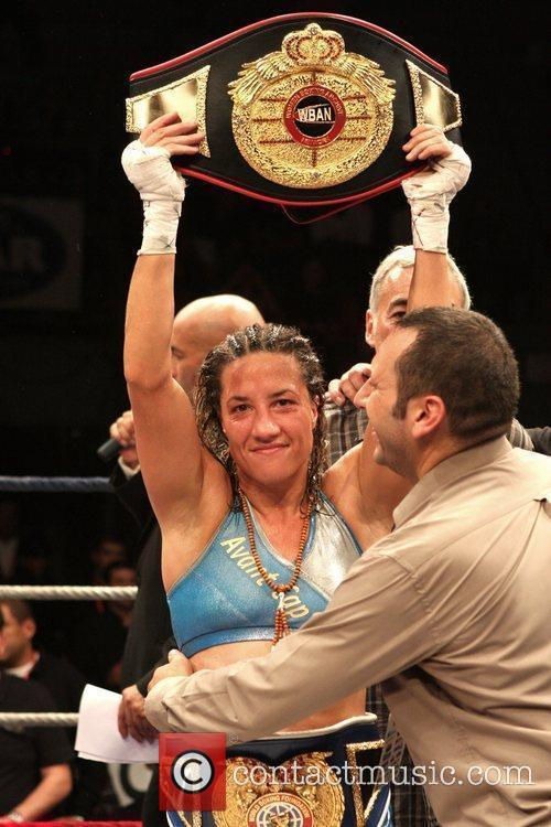 Myriam Lamare of France wins  against Ann...