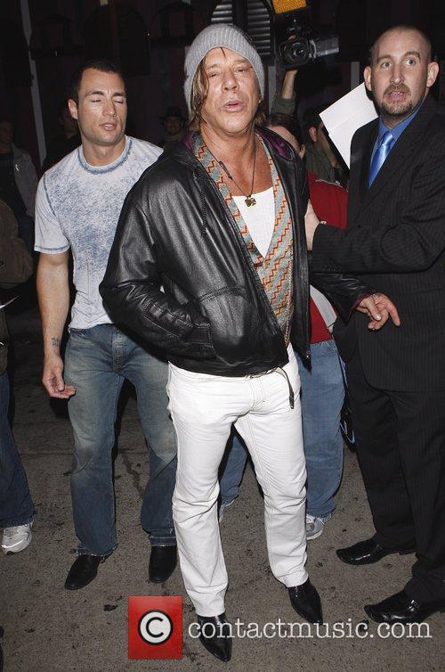 Mickey Rourke leaving Wonderland nightclub Los Angeles, California