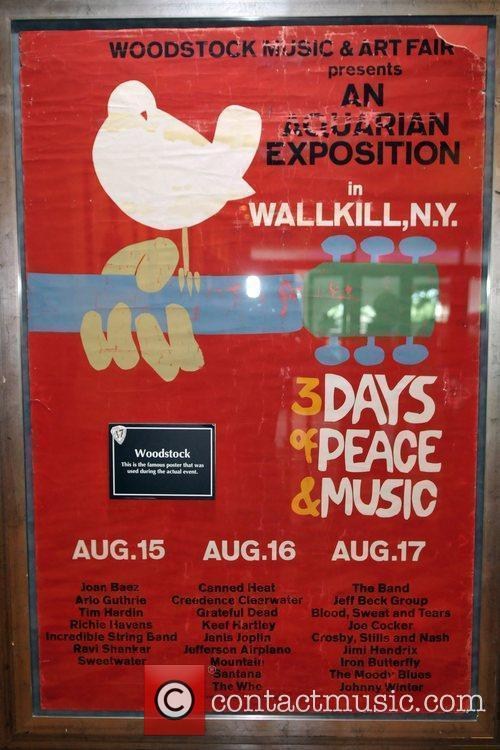 Atmosphere An original concert poster for the Woodstock...