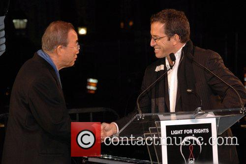 Ban Ki-moon and Kenneth Cole World's AIDS Day...