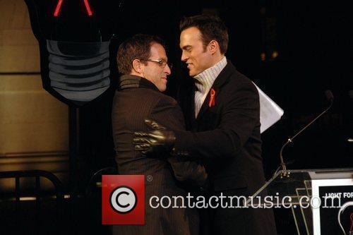 Kenneth Cole and Cheyenne Jackson  World's AIDS...