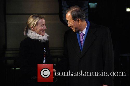Naomi Watts and Ban Ki-moon World's AIDS Day...