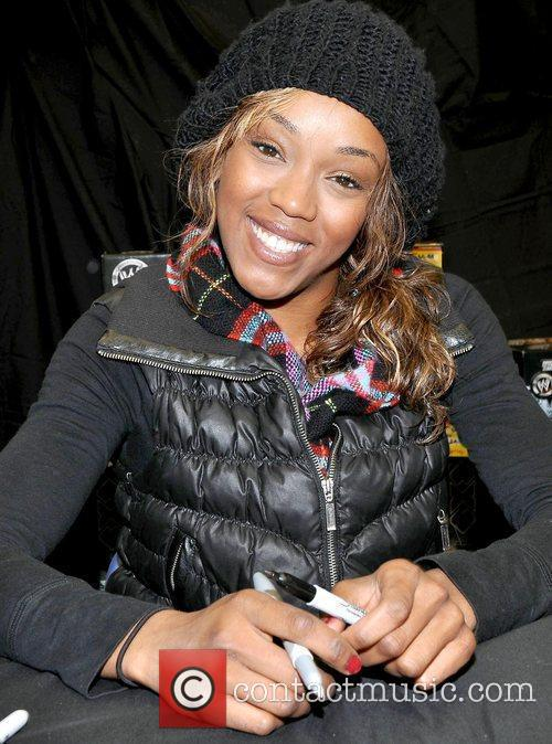 Alicia Fox WWE star attend a meet and...