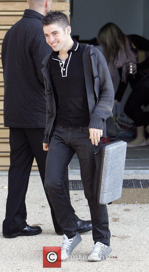 Joe McElderry leaves the 'X Factor' house London,...