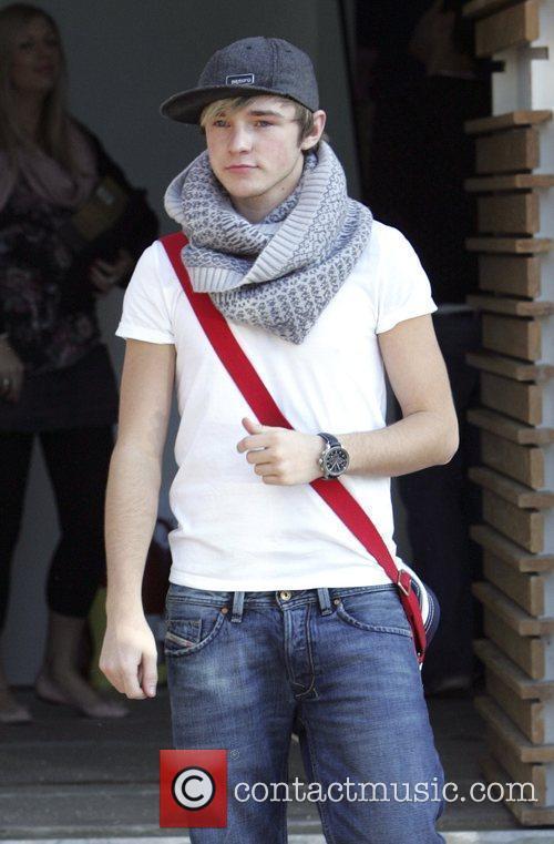 Lloyd Daniels leaves the 'X Factor' house London,...
