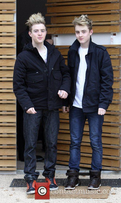 John and Edward Grimes leave the 'X Factor'...