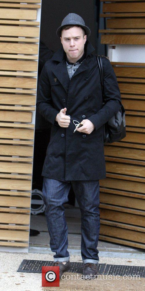 Olly Murs leaves the 'X Factor' house London,...