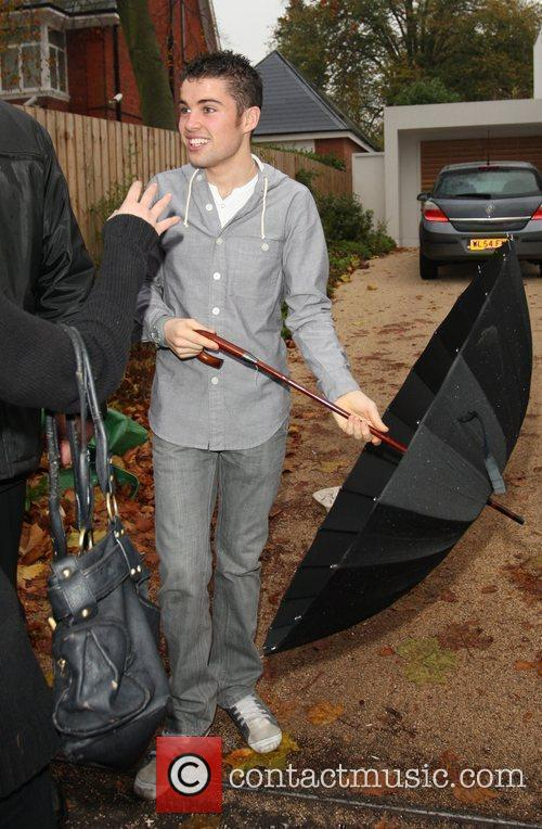 X Factor Finalist - Joseph McElderry outside the...