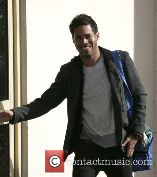 X Factor Finalists - Danyl Johnson arriving at...