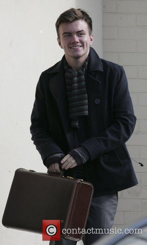 X Factor Finalists - Joe McElderry arriving at...