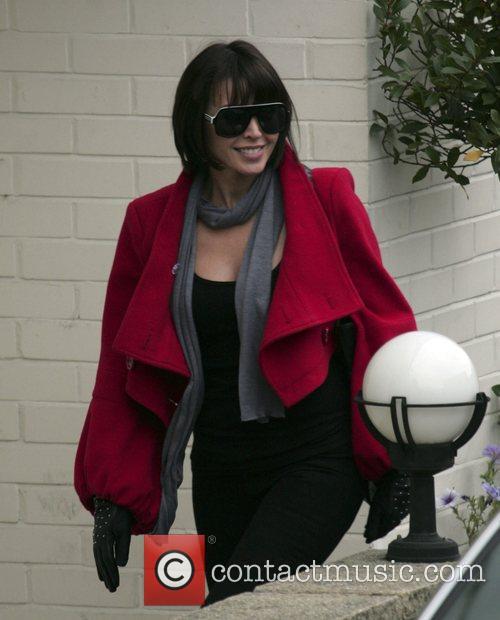 Danni Minogue Arriving at the X Factor studios...