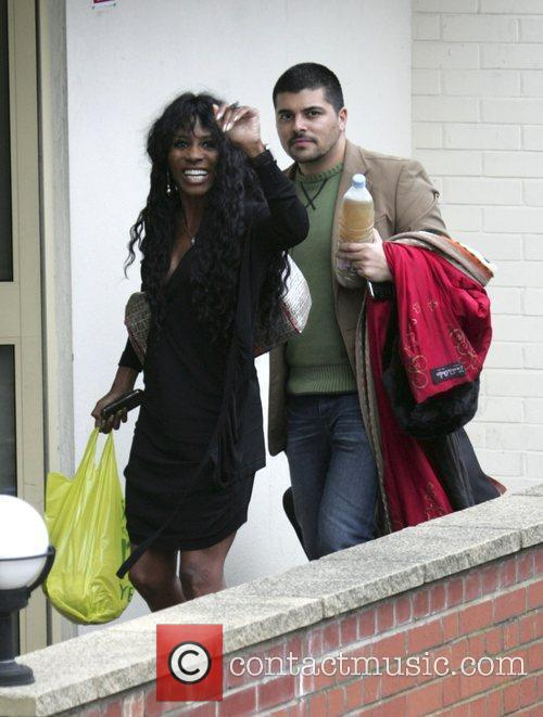 Sinitta & friend Arriving at the X Factor...