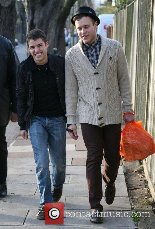 'X Factor' contestants Joseph McElderry and Olly Murs...