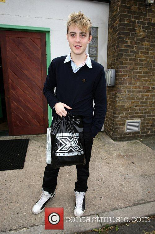 Edward Grimes arrives at a studio for rehearsals...