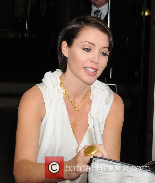 Dannii Minogue leaving her hotel for the 'X...