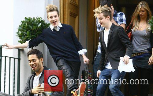 The 'X Factor' finalists leave the Abbey Road...