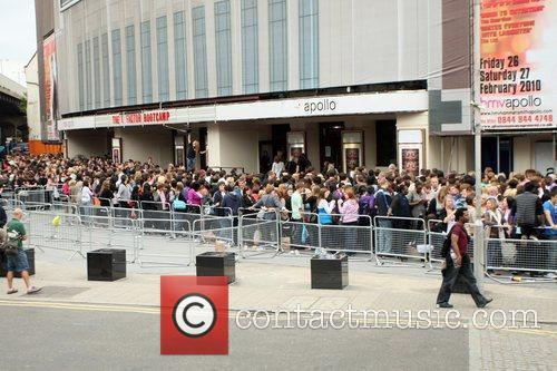 A Massive Crowd Turns Up To See The Judges Arrive For The Final Day Of 'x Factor' Bootcamp 3