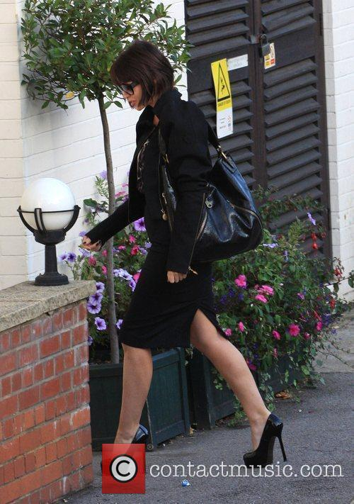 Dannii Minogue arrives to record the 'X Factor'