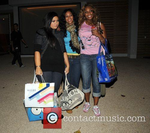 X Factor finalists Miss Frank arrive back at...