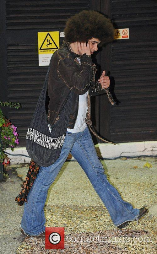 Jamie Archer leaves the X Factor studios after...