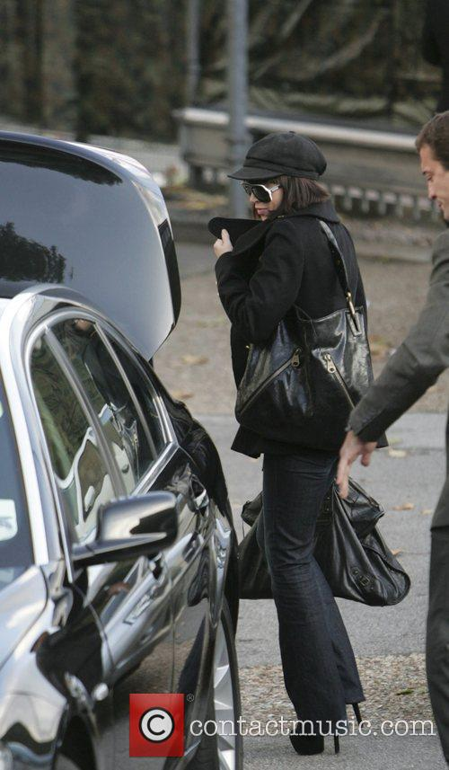 Dannii Minogue  arriving at the Fountain Studios...