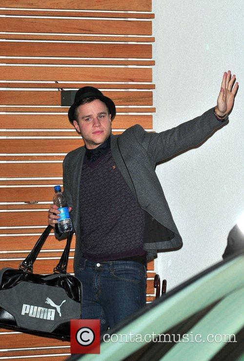 X Factor Finalist - Olly Murs  outside...