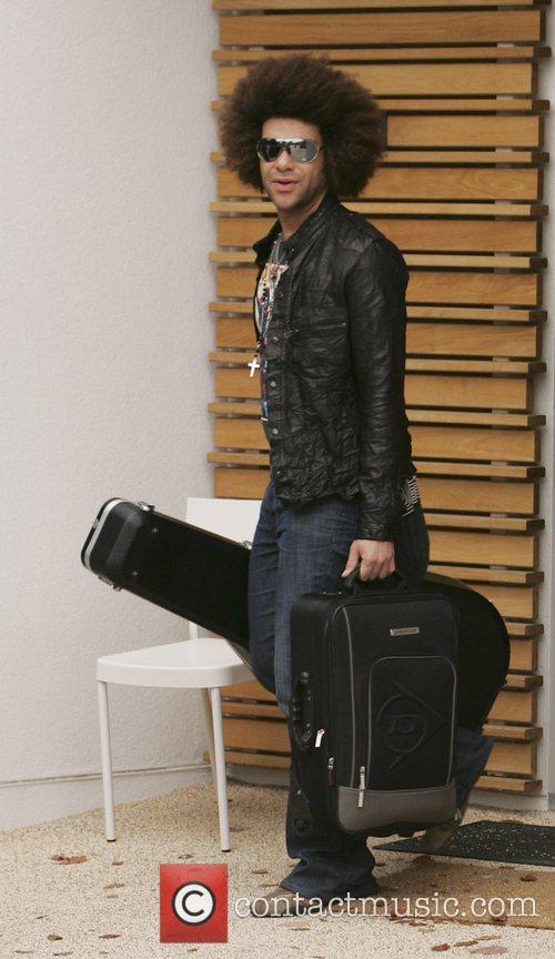 X Factor Finalist Jamie Archer leaving the X...