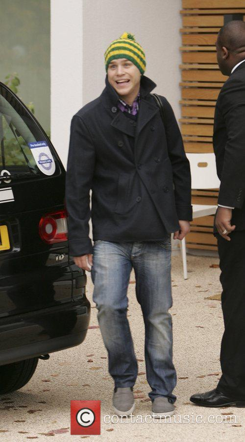 X Factor Finalist Olly Murs leaving the X...