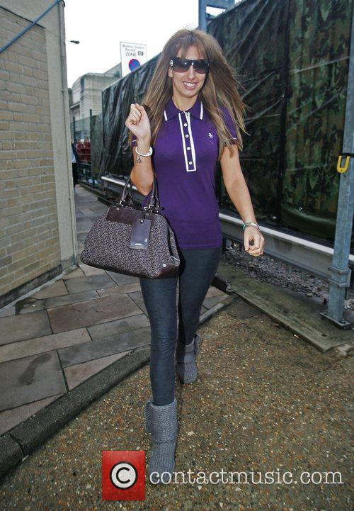 Stacey Soloman leaving the 'X Factor' house on...