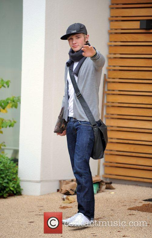 X Factor finalist Lloyd Daniels leaving the X...