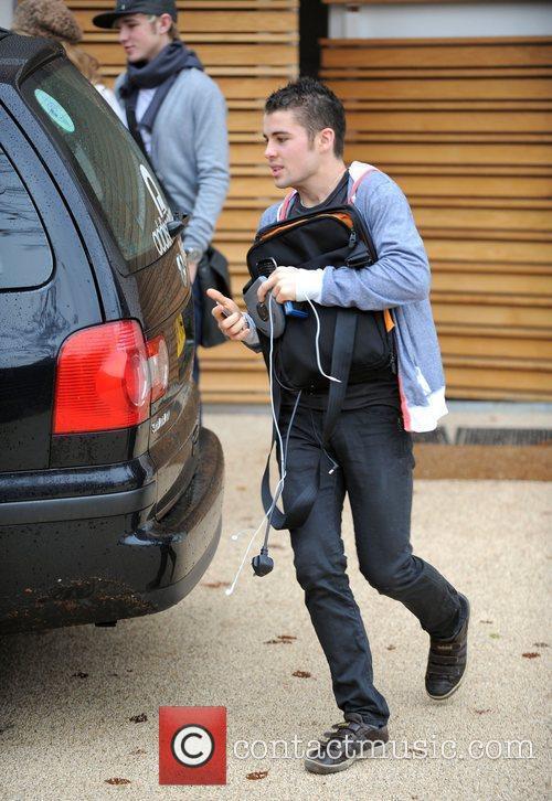 X Factor finalist Joseph McElderry leaving the X...