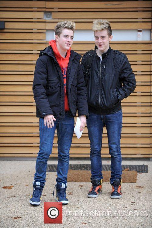 X Factor finalists John Grimes and Edward Grimes...