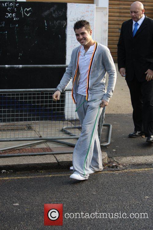 Joseph McElderry outside the X Factor House London,...