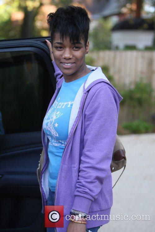 Rachel Adedji leaving the 'X Factor ' house