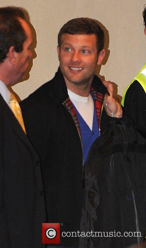 Dermot O'Leary leaving the X Factor studios London,...