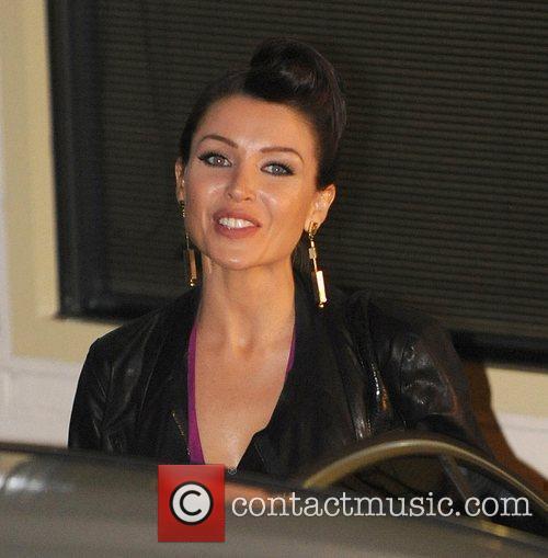 Dannii Minogue leaving the X Factor studios London,...