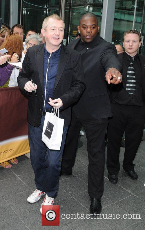 Louis Walsh arriving as the 'X Factor' auditions...