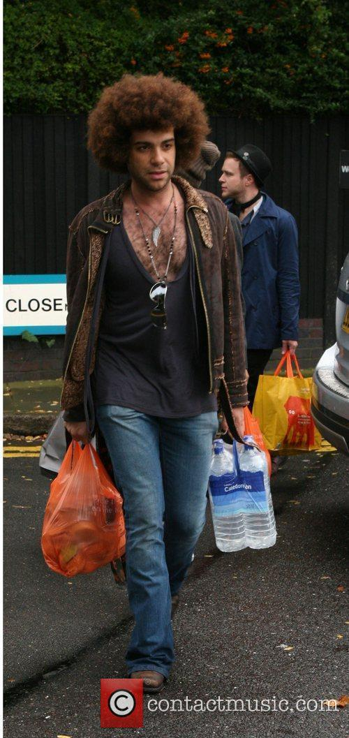 Returning to the X Factor House after shopping...