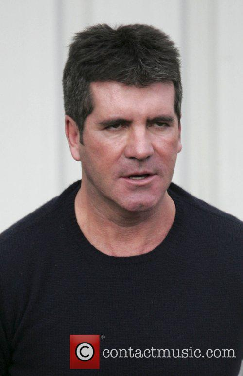 Simon Cowell arriving at the Fountain Studios for...