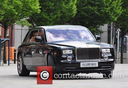 Simon Cowell's Rolls Royce as the 'X Factor'...