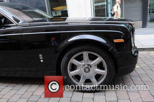 Simon Cowell's Rolls Royce with a scratch in...