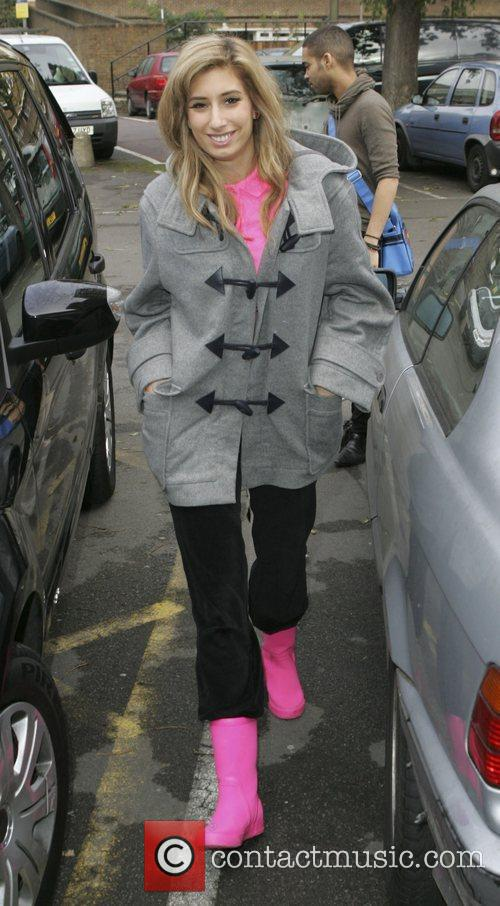 'X Factor' finalist Stacey Solomon visiting a rehearsal...