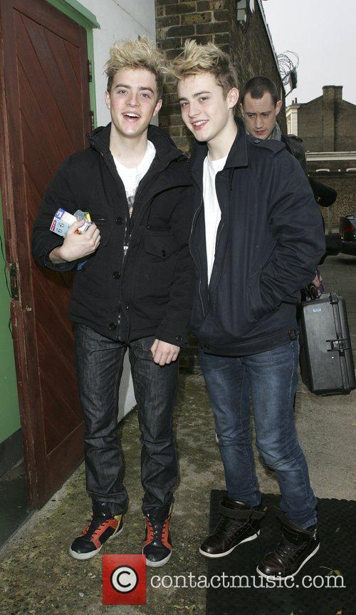 'X Factor' finalists John Grimes and Edward Grimes,...