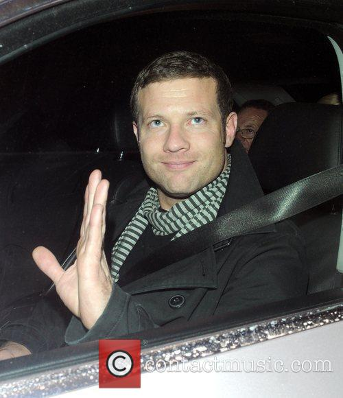 Dermot O'Leary leaving the The X Factor studios...