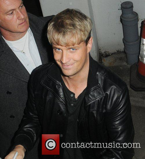 Kian Egan from Westlife leaving the The X...