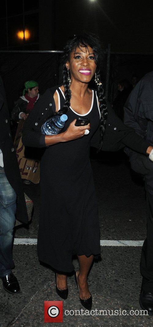 Sinitta leaving the The X Factor studios London,...