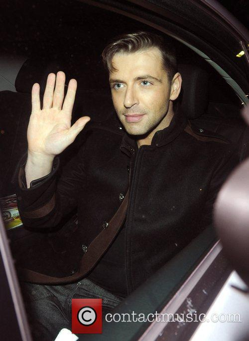 Mark Feehily from Westlife leaving the The X...