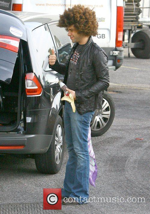 Jamie Archer arriving at the 'X Factor' studios...