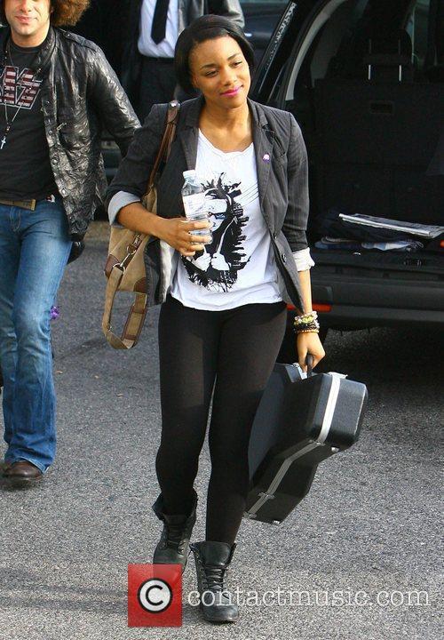 Rachel Adedeji arriving at the 'X Factor' studios...